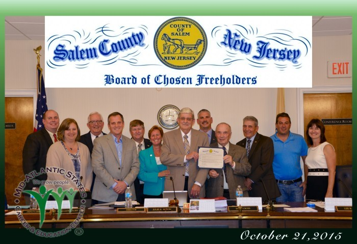 Salem County Board of Freeholders and representatives from Mid-Atlantic