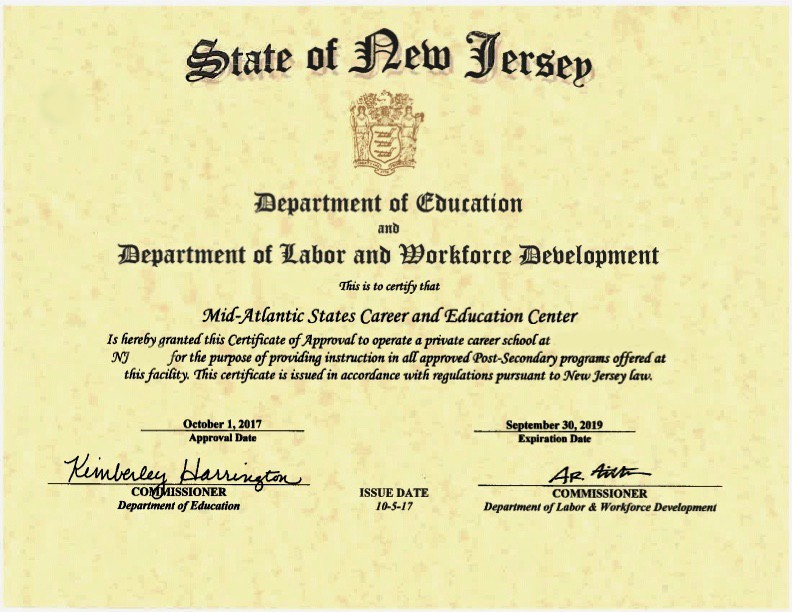 Mascec Now A Nj Private Career School Mid Atlantic States Career