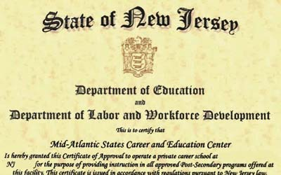 MASCEC Now a NJ Private Career School
