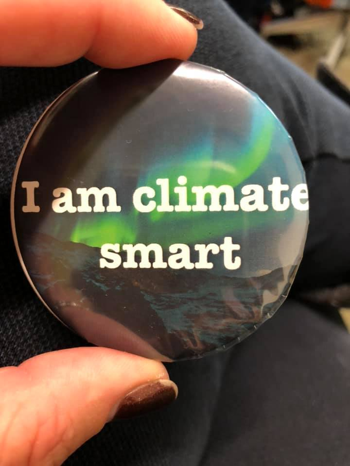 I am climate smart button